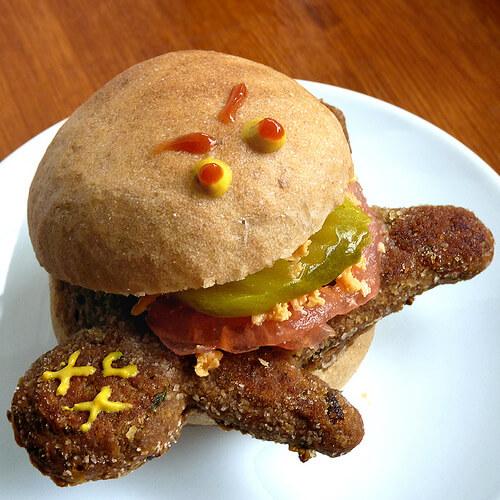 Vegan Halloween Dead Man Burgers
