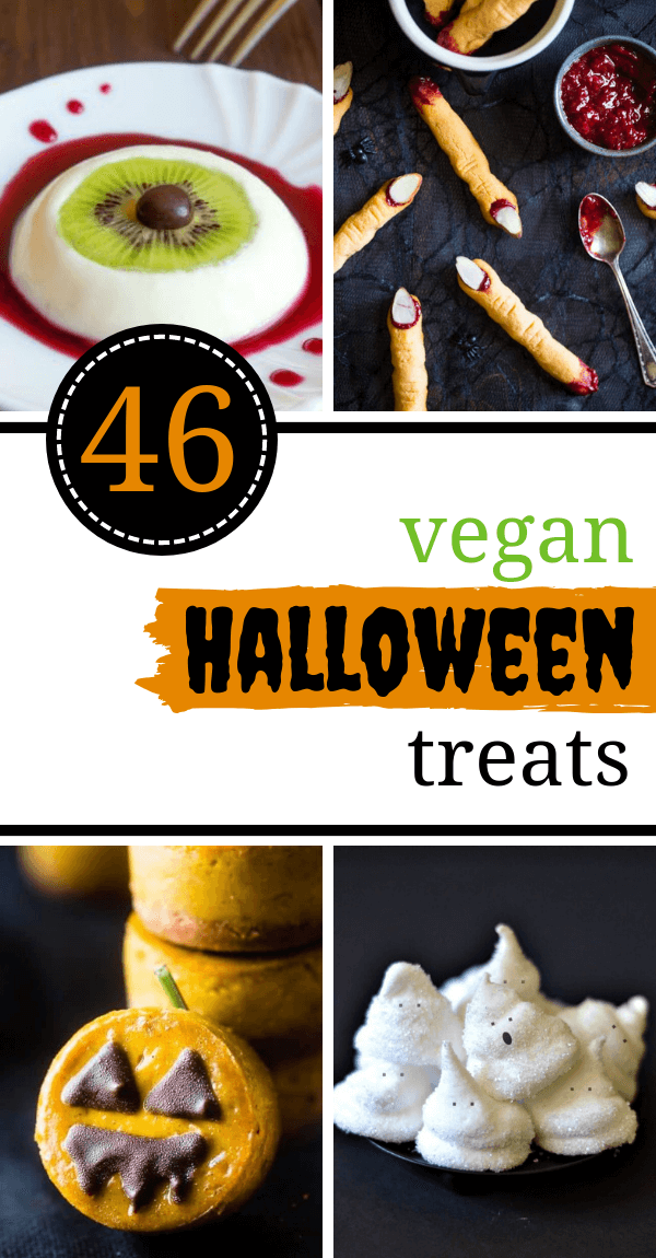 These easy, Vegan Halloween Treats and snack recipes are guaranteed to make your party super fun, sweet and spooky! | The Green Loot #vegan #veganrecipes #Halloween