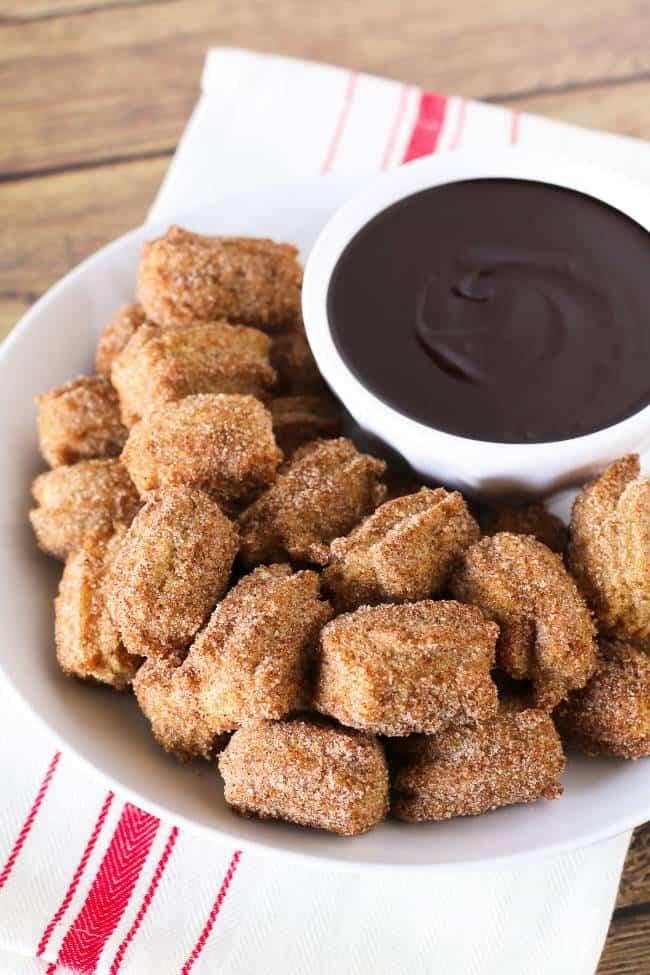 Churro Bites with Chocolate Sauce (GF)