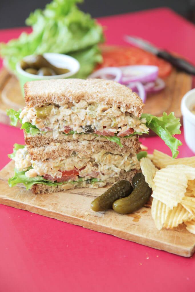 Vegan Dill Chickpea Sandwich
