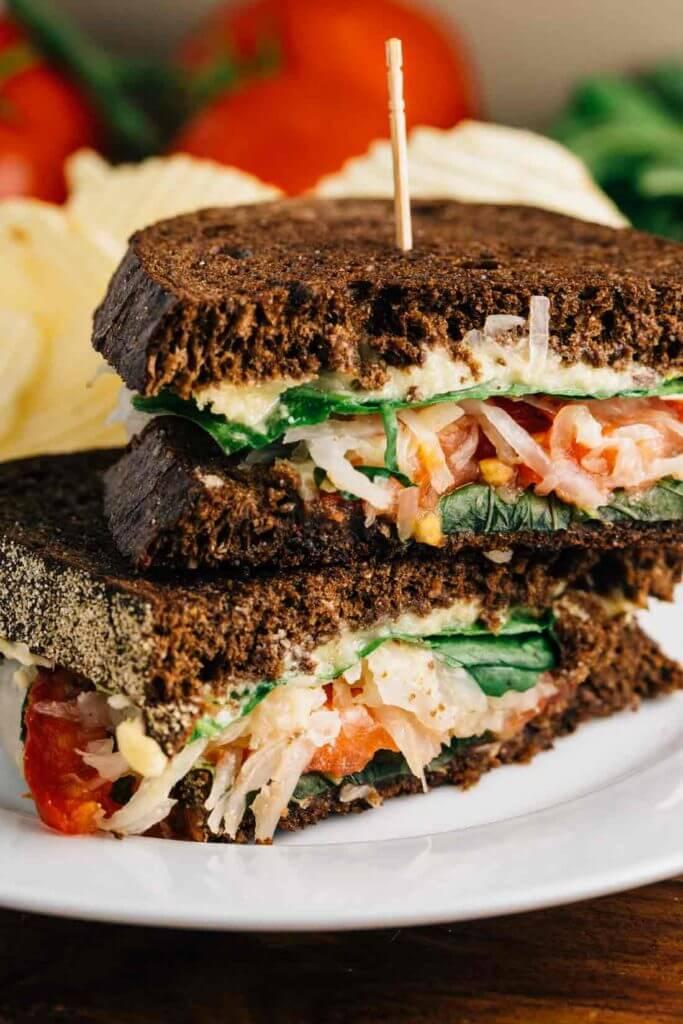 Vegan Veggie Reuben Sandwich