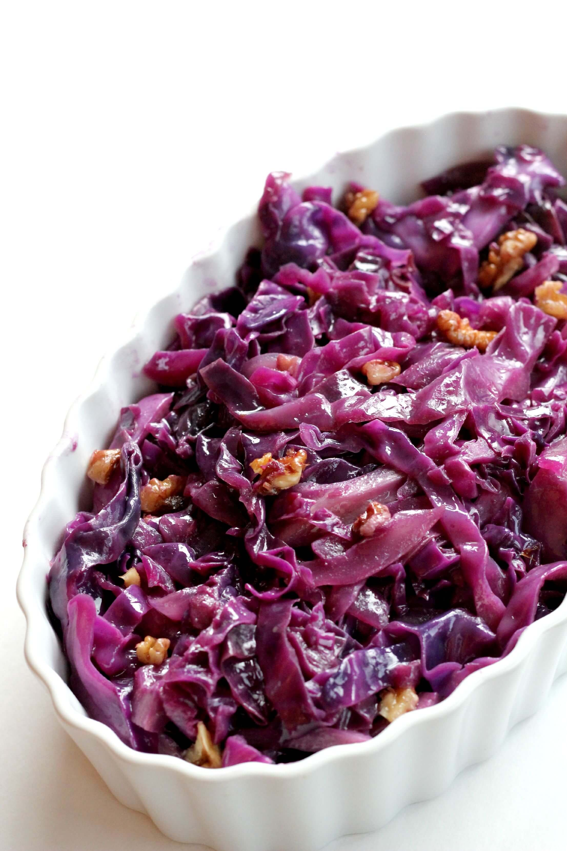 Braised Red Cabbage with Walnuts