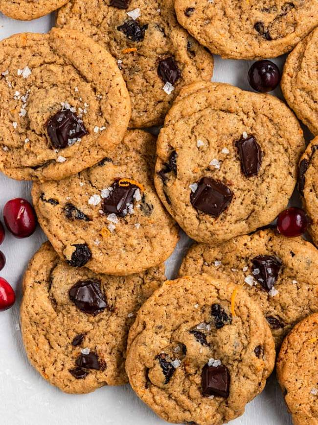 Cranberry Orange Chocolate Chip Cookies