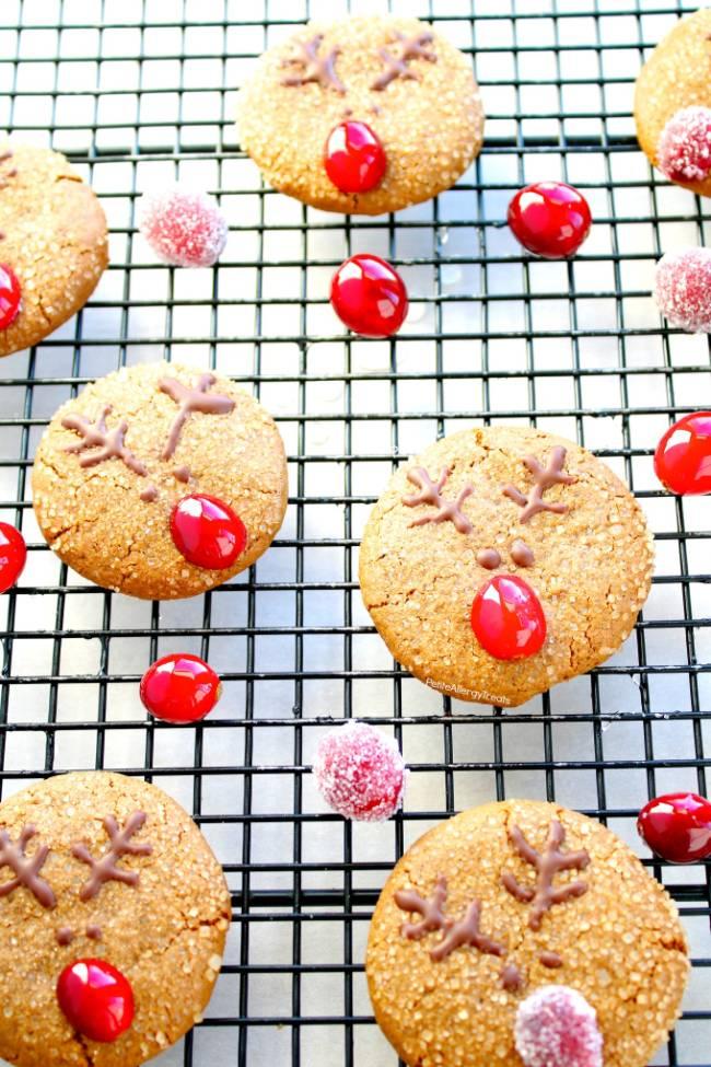 Reindeer Gingersnap Cookies