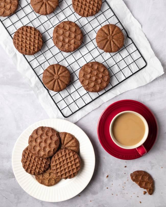 Coffee Hazelnut Shortbread Cookies