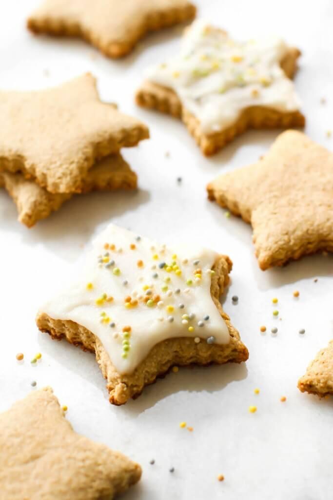 Vegan Oat Flour Sugar Cookies