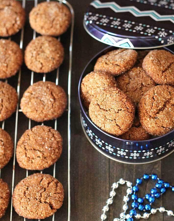 Vegan Chewy Gingerbread Cookies (gluten-free)