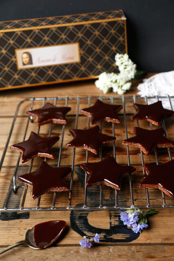 Vegan Chocolate Star Cookies (gluten-free)