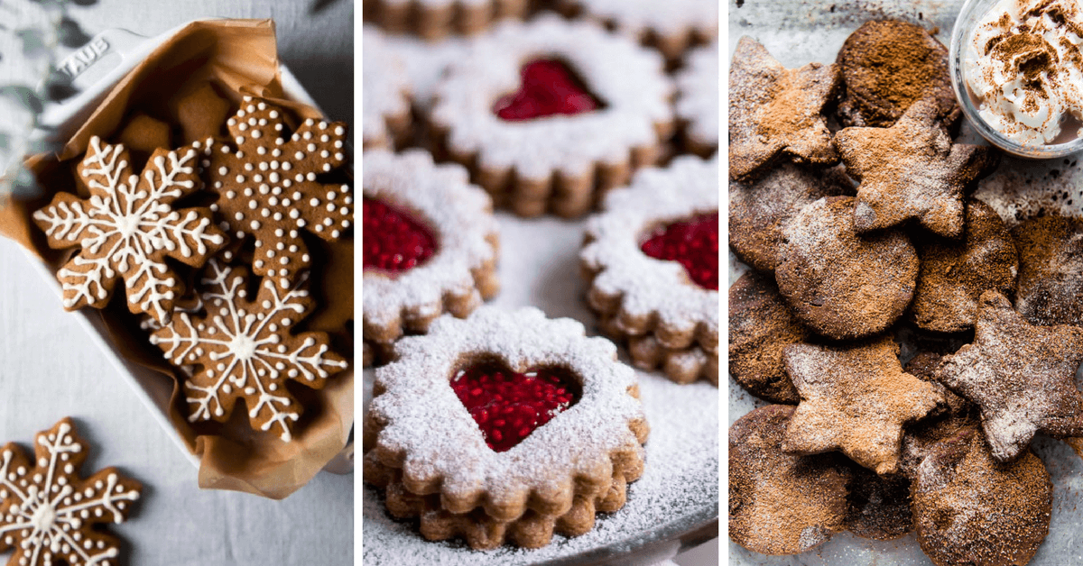 A yummy roundup of Vegan Christmas Cookie recipes! Sweet, crunchy and delicious treats for the whole family. Happy Holidays! | The Green Loot #vegan #veganrecipes #Christmas #veganChristmas #dairyfree #eggfree
