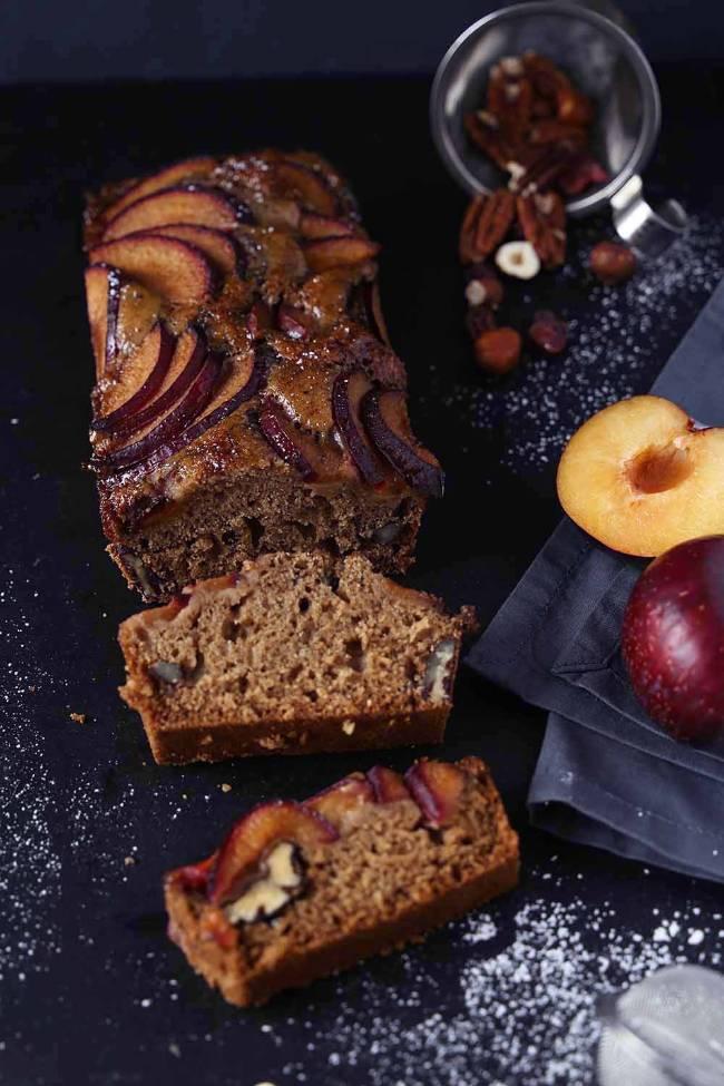 Chai Plum Cake