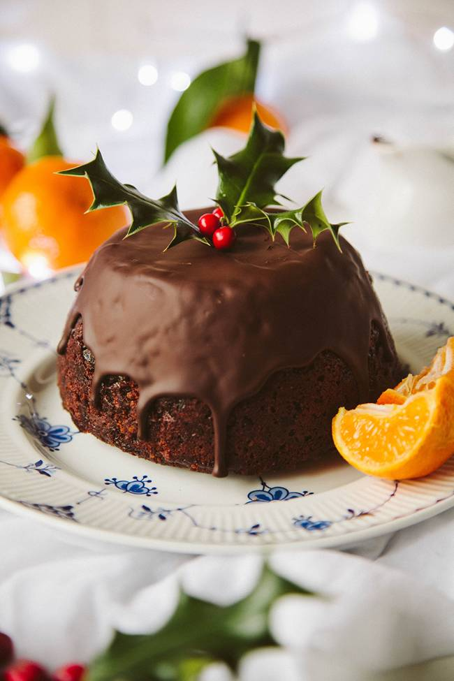 Chocolate Orange Christmas Pudding