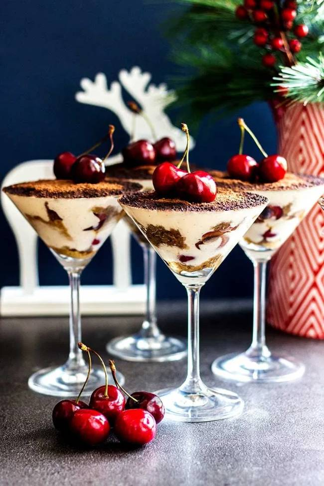 Boozy Tiramisu with Cherries