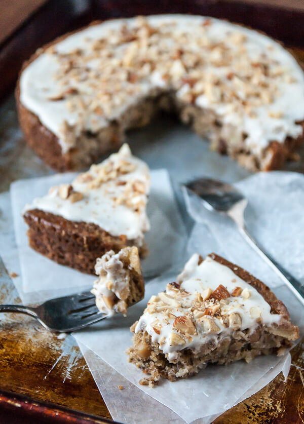 Vegan Apple Spice Cake with Coconut Cream Frosting