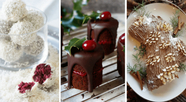 These Vegan Christmas Dessert recipes will sweeten your holidays, like nothing else! Sit by the fireplace and treat yourself with these yummies! Egg-free and dairy-free. | The Green Loot #vegan #veganrecipes #veganChristmas #dairyfree #eggfree #Christmas