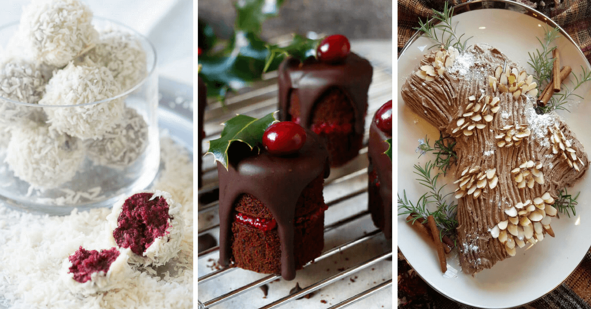These Vegan Christmas Dessert recipes will sweeten your holidays, like nothing else! Sit by the fireplace and treat yourself with these yummies! Egg-free and dairy-free. | The Green Loot #veganrecipes #veganChristmas #dairyfree #eggfree #vegan #Christmas