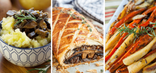 These vegan Christmas dinner recipes will create a healthy and easy holiday menu! They are super delicious, meatless and plant-based main dishes and sides. Enjoy! | The Green Loot