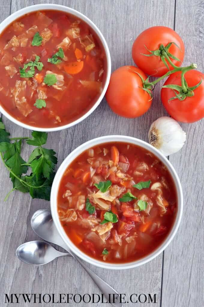 Vegan Slow Cooker Cabbage Soup (paleo)