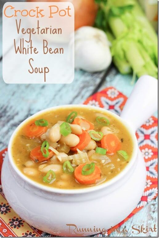 Vegan Crock Pot White Bean Soup