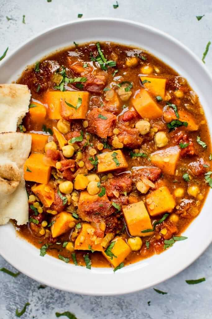 Vegan Crockpot Sweet Potato Curry