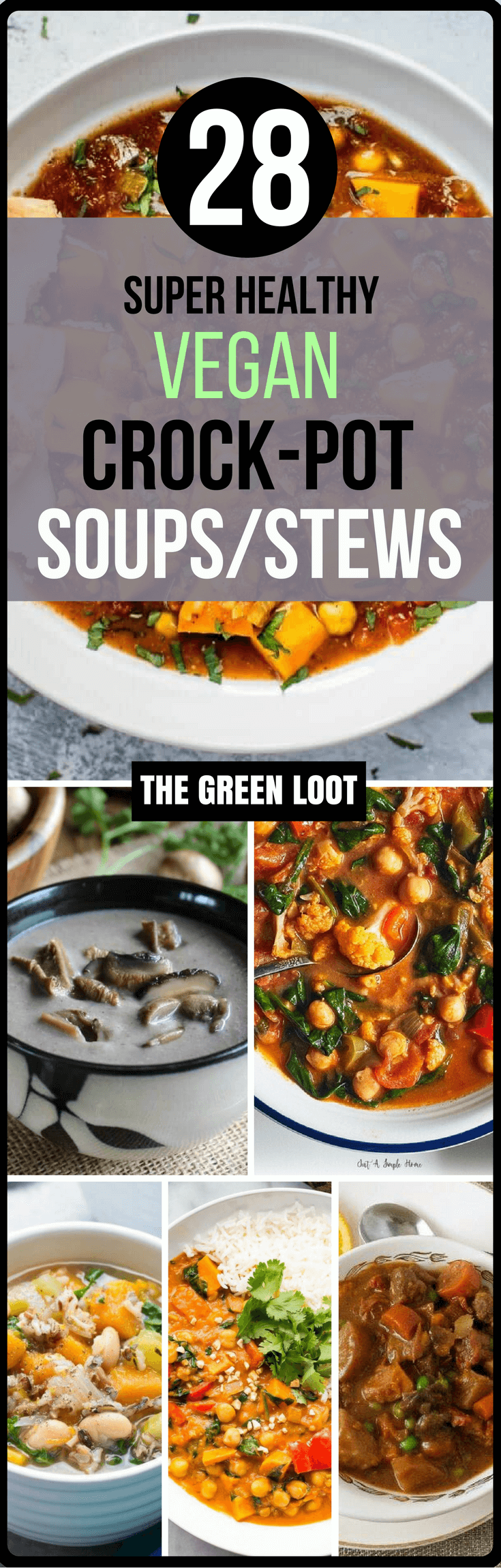 The best 28 vegan crockpot soups stews recipes easy for Healthy vegetarian crock pot recipes easy