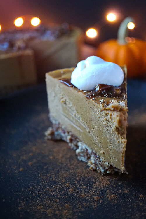 Vegan Pumpkin Spice Latte Cheesecake