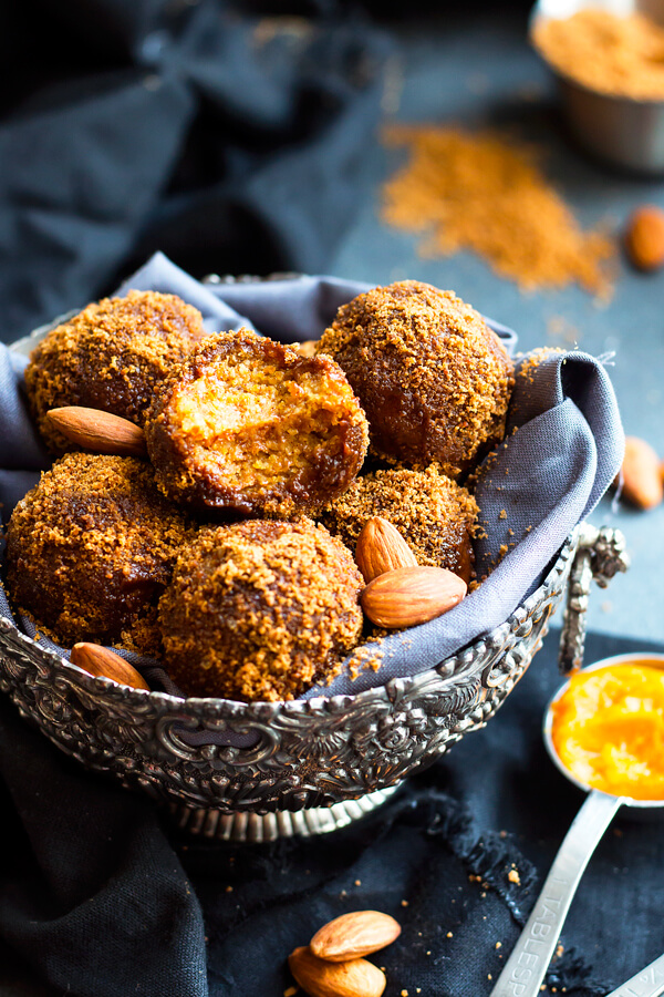 Vegan No Bake Pumpkin Pie Bites (gluten-free)