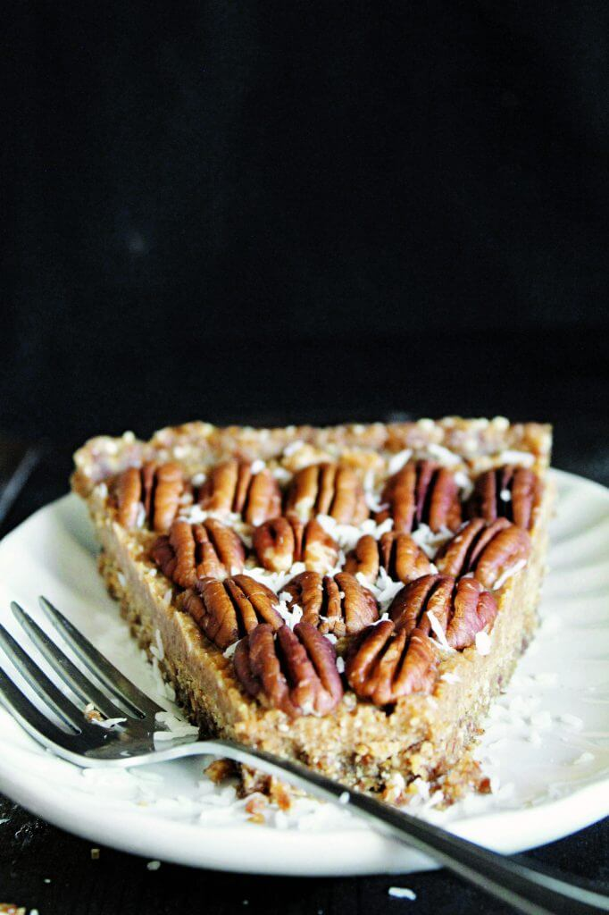 Vegan Raw Maple Pecan Pie