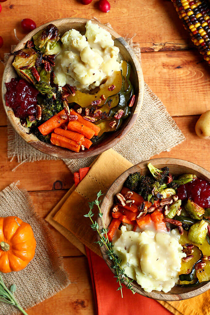 Roasted Thanksgiving Bowls