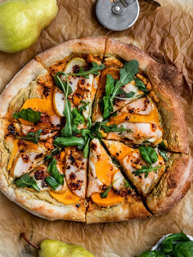 Butternut Squash and Pear Pizza