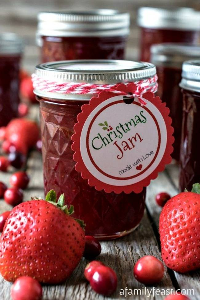 Christmas Jam with Strawberry and Cranberry