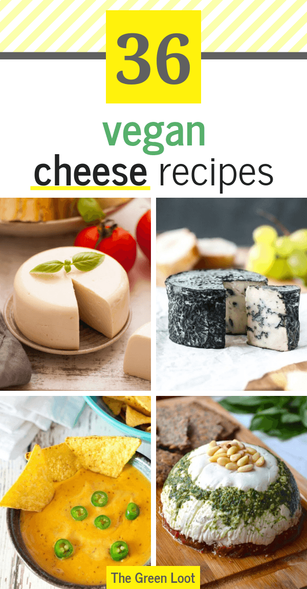 These Vegan Cheese Recipes are the best. Make an easy, melty mozzarella, cashew, almond, or nut-free cheese at home today. Dairy-free and delicious! | The Green Loot #vegan #veganrecipes #dairyfree