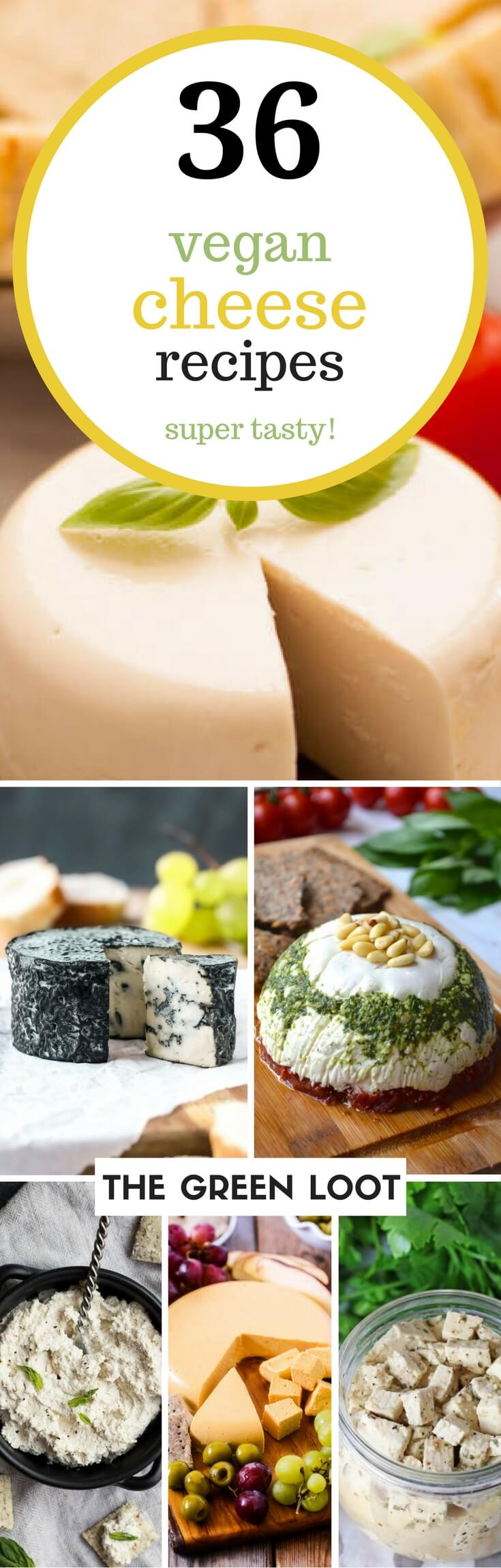 These vegan cheese recipes are the best. Make an easy, melty mozzarella, cashew, almond, or nut-free cheese at home today. Dairy-free and delicious! | The Green Loot #vegan #dairyfree