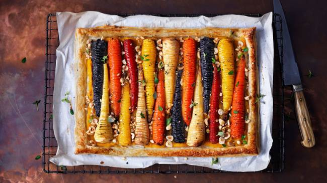 Hasselback Vegetable Tart