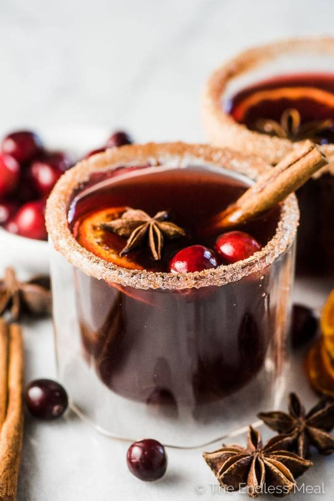 Cranberry Hot Toddy