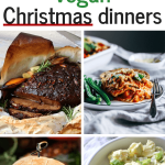 These Vegan Christmas Dinner Recipes will create an easy and healthy holiday menu! Super delicious, meatless and plant-based main dishes, sides and savory appetizers for the whole family. Enjoy! | The Green Loot #vegan #veganrecipes #veganChristmas #Christmas