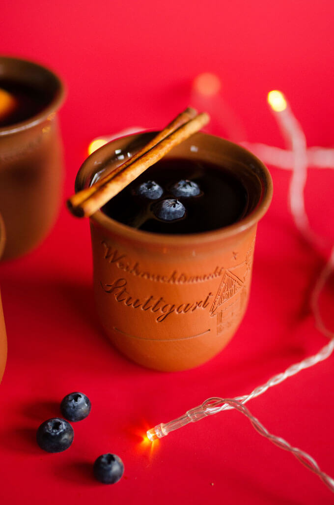 Blueberry Mulled Red Wine