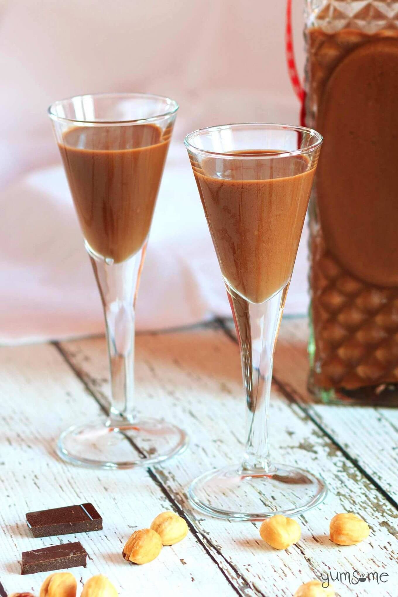 "Vegan Nutella Cream Liqueur // If you are a fan of sweet creamy liqueurs, you might have just found your new favorite. This boozy vegan ""Nutella"" drink is what dreams are made of. 
