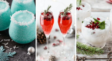 These Vegan Christmas Drinks with Alcohol are the perfect holiday recipes for a crowd. Make the best vodka, champagne, wine or rum cocktails this Xmas! | The Green Loot #vegan #veganrecipes #Christmas #veganChristmas #dairyfree