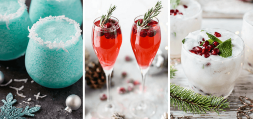 These vegan christmas drinks with alcohol are perfect festive party recipes for a crowd. Make an easy vodka, champagne, wine or rum cocktail this Xmas! | The Green Loot #vegan #Christmas