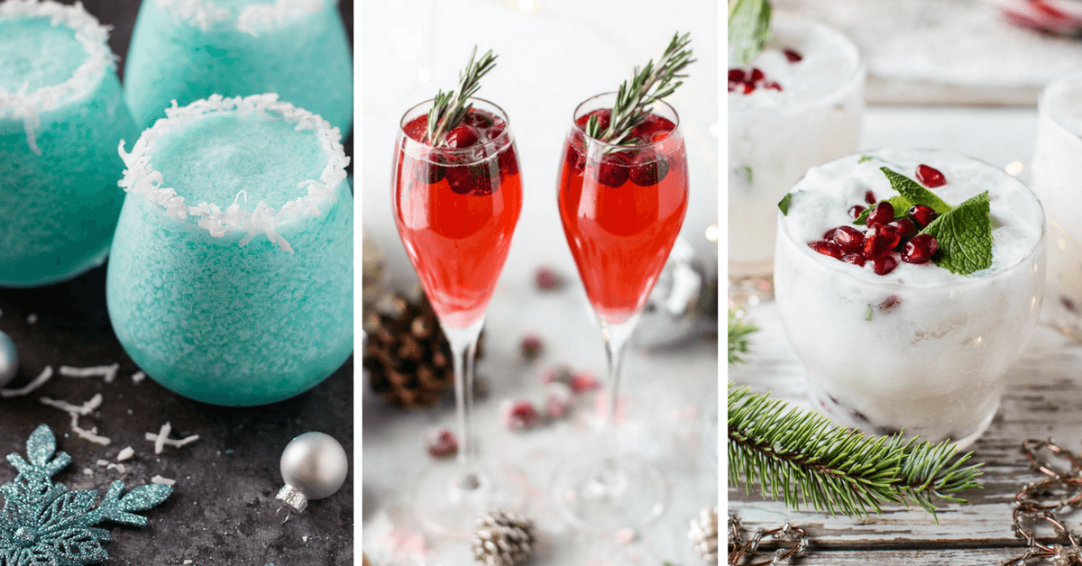 These Vegan Christmas Drinks with Alcohol are the perfect holiday recipes for a crowd. Make the best vodka, champagne, wine or rum cocktails this Xmas! | The Green Loot #vegan #veganrecipes #Christmas #dairyfree #Winter