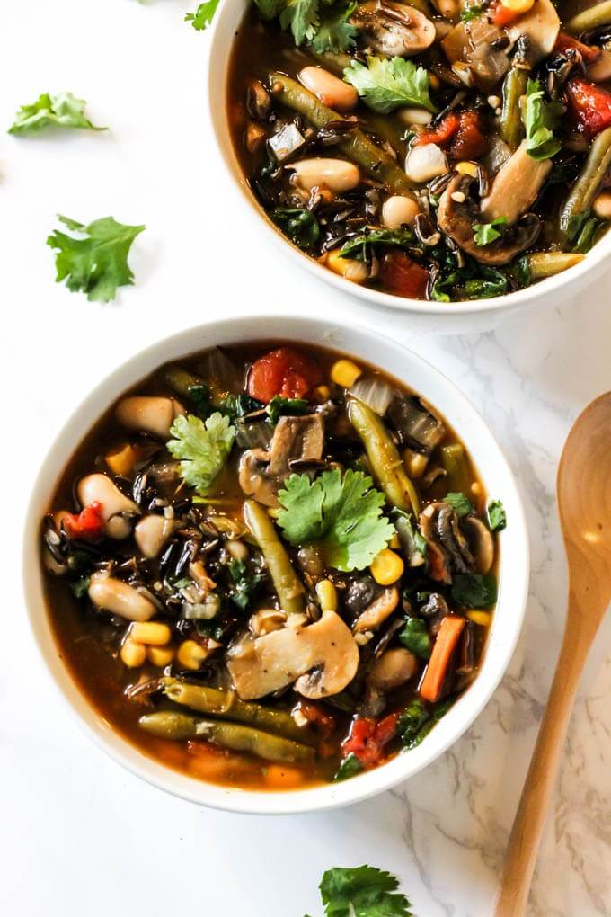 Vegetable Wild Rice Soup