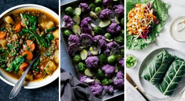 These Vegan Clean Eating Recipes for Weight Loss are the perfect Winter diet dinners. They're easy, healthy, low-carb, plant-based, dairy-free and full of veggies. | The Green Loot #vegan #plantbased #cleaneating #veganrecipes #weightloss #healthyeating #Winter