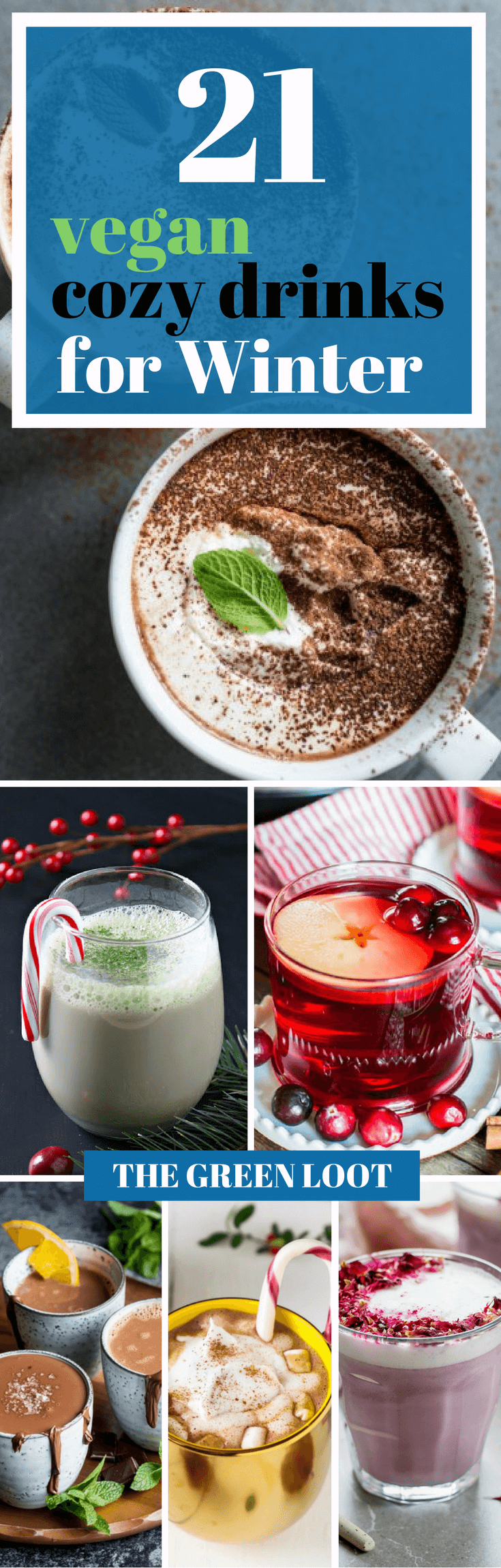 Make these cozy vegan drinks for winter to warm up your soul! From hot chocolate to apple cider, these dairy-free cups are perfect for cold mornings. Enjoy!   The Green Loot ... #vegan #dairyfree