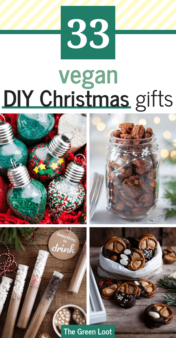 These unique DIY Edible Christmas Gift Ideas are the best for Xmas. They are easy, fun and cheap to make. A cute way to gift your vegan loved ones. | The Green Loot #vegan #veganrecipes #DIY #Christmas #veganChristmas #giftideas