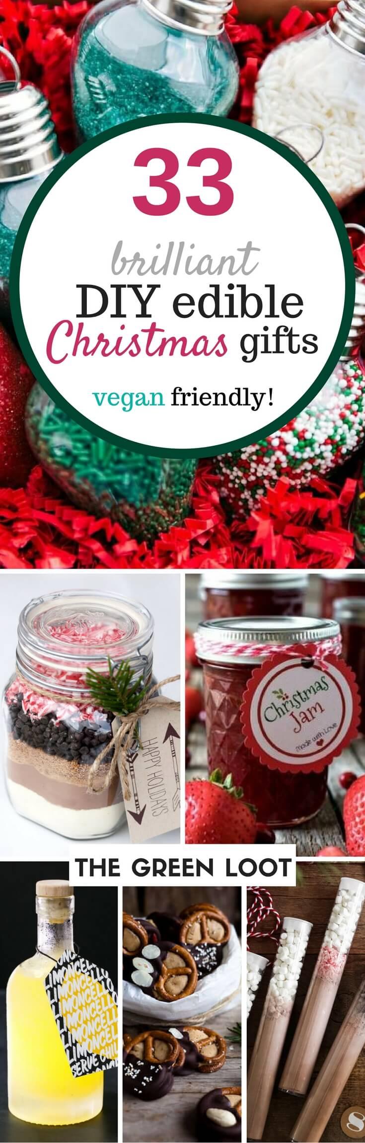 33 Brilliant DIY edible Christmas Gift Ideas (vegan ...