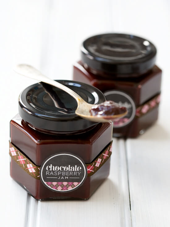 Vegan Chocolate Raspberry Jam