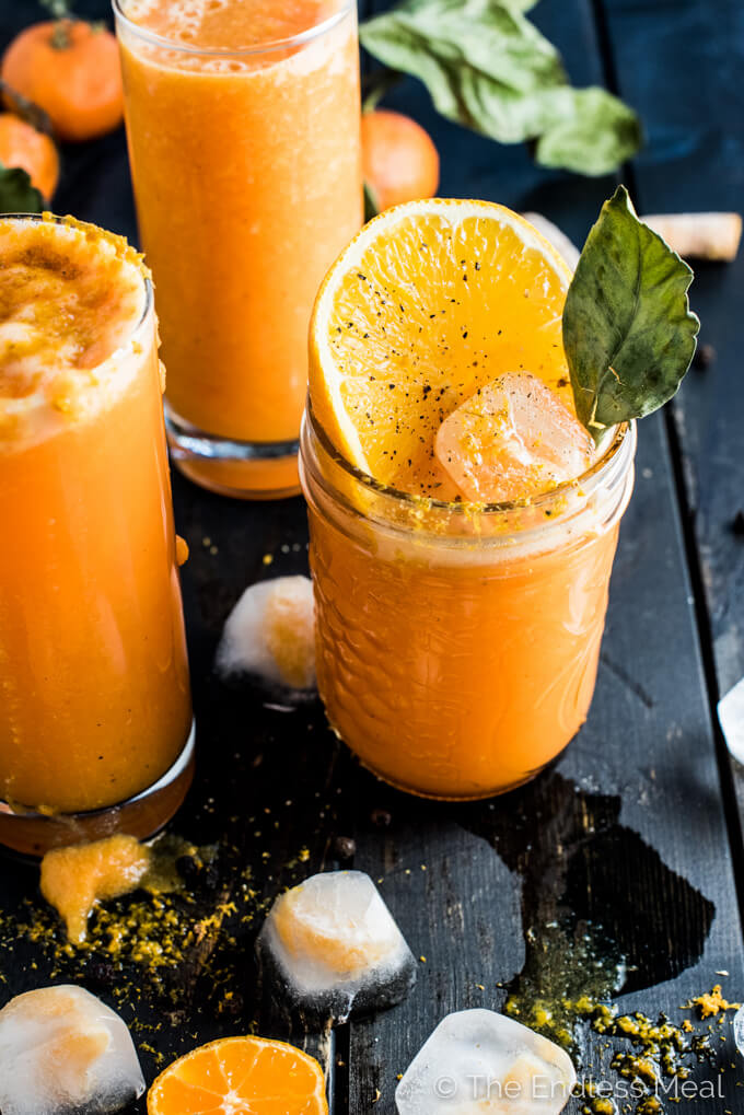 Vegan Detox Orange Ginger Turmeric Smoothie