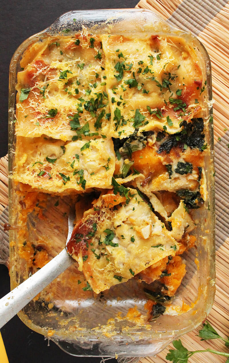 Vegan Butternut Squash and Kale Lasagna