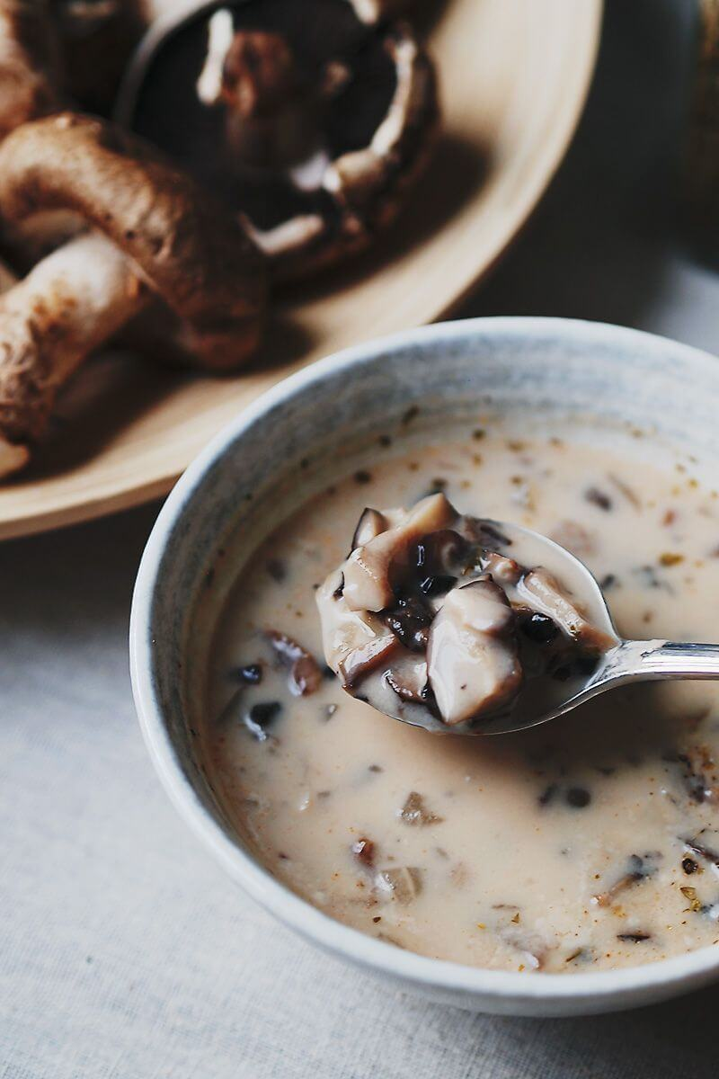 Vegan Easy Cream of Mushroom Soup