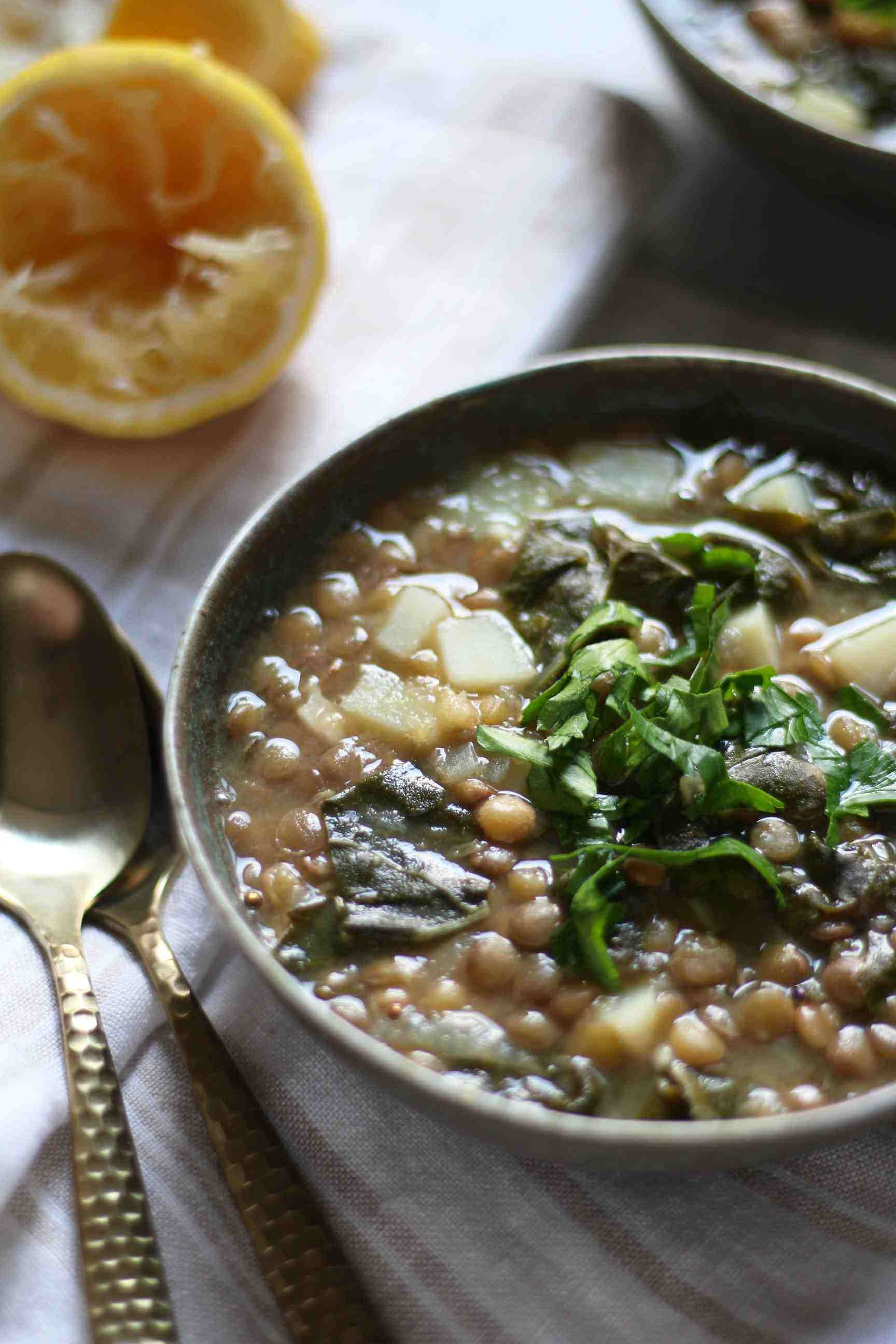 Vegan One-Pot Lentil Swiss Chard Soup